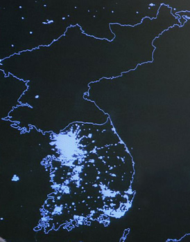 No Lights in North Korea